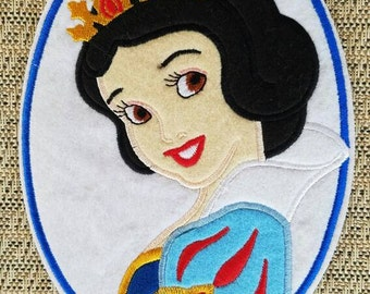 Princess Snow white patch inspired, Snow white iron on inspired patch, Snow white large patch inspired