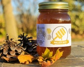 Raw Honey from Iowa wildflower, goldenrod, and clover, 100% pure – Pint Jar (24oz)
