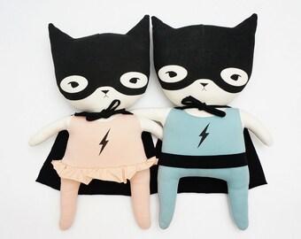 Superhero couple soft toys