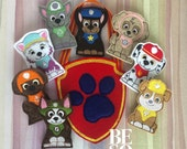 Rescue Pups Finger Puppet Set With Carrying Pouch (Individual or Set available) | Finger Family | Finger Puppets | Pretend Play