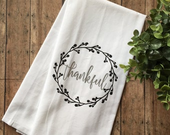 Thankful Kitchen Towel