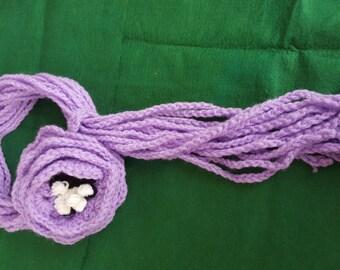 Necklace scarf, gift original, necklace at crochet, scarf original