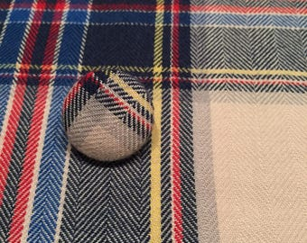 Creative Plaid Pocket Square and Lapel Pin Combo