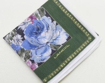 FREE SHIPPING!!! LANCEL Floral Hanky Handkerchief