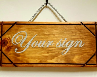 Custom wedding wooden sign.