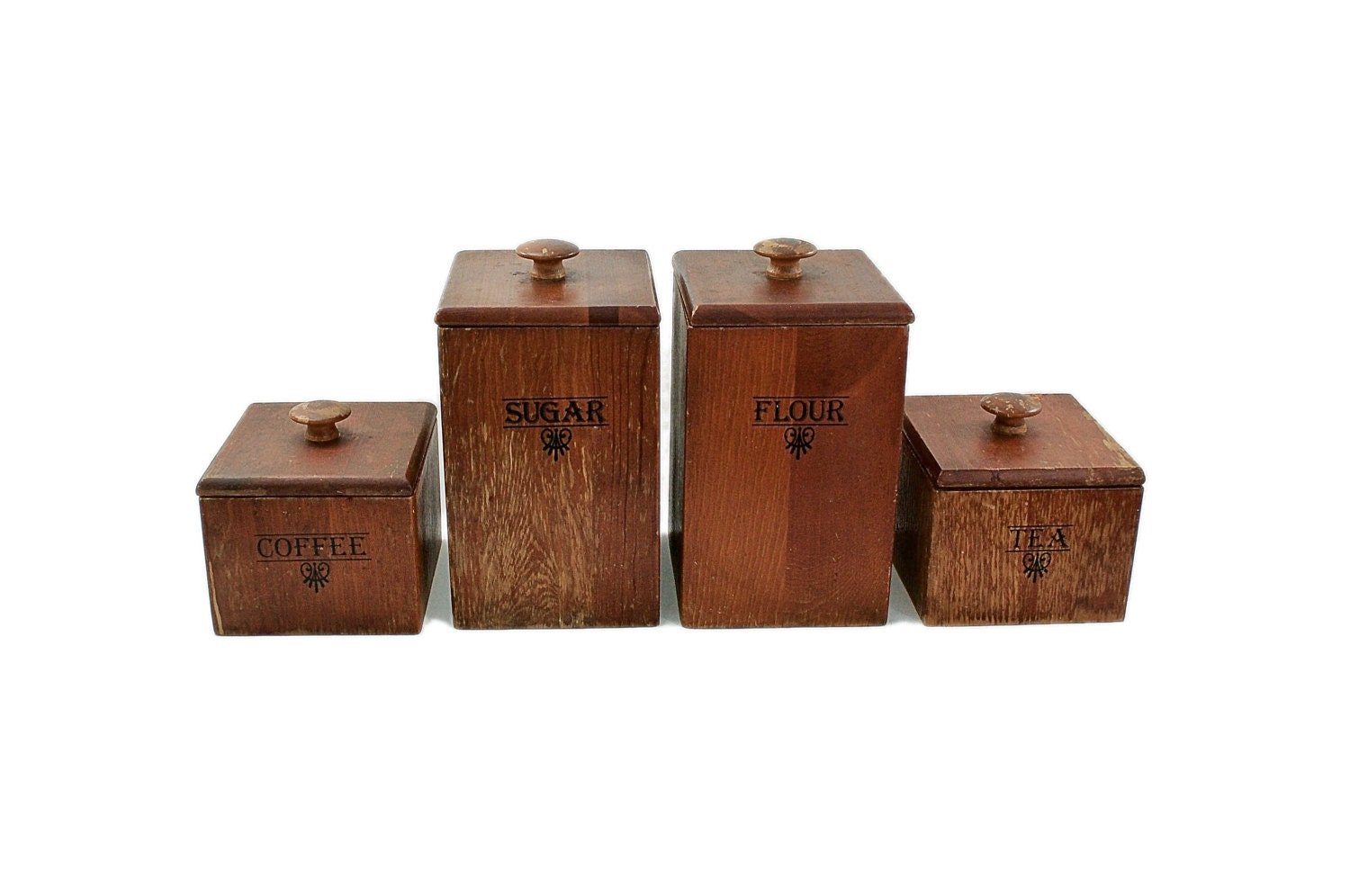 wooden canisters kitchen kitchen canister set vintage wood canisters 1960s mid 3579