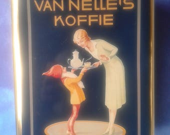 Vintage Coffee tin, of Nelle's coffee, Gnome Piggelmee