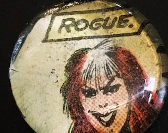 Vintage Rogue Comic Glass Pebble Magnet