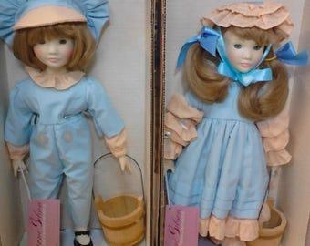 Suzanne Gibson Jack and Jill Nursery Rhyme Dolls