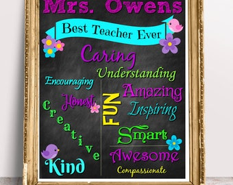 Teacher Appreciation Gift, Teacher, Gift, School