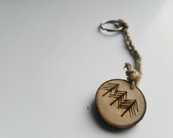 Budding Trees Keychain with hemp