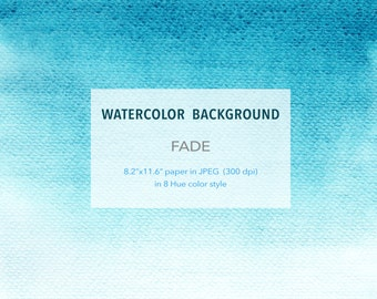 """Watercolor Background - Fade - 8.2"""" x 11.6"""" printable, free commercial use , Abstract Watercolour digital texture paper instant download"""