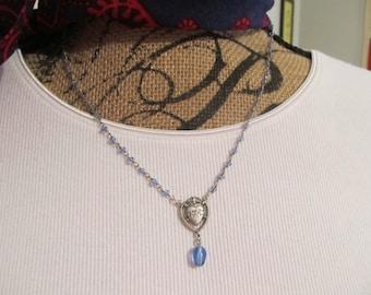 Rosary necklace, handmade jewelry, Religious jewelry, Catholic rosary, Immaculate Heart