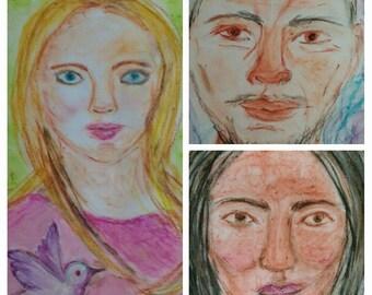 Psychic art spirit portrait mediumship reading