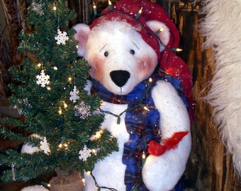 "Thistlehair the 24"" Christmas Polar Bear Pattern"