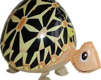 TURTLE Walking Pet Animal Balloons Own your pet Balloon Air Filled Balloons Birthday Party Girl Birthday Party Cricket Bug Water Fish