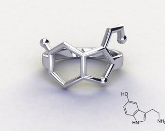 Molecule ring Serotonin