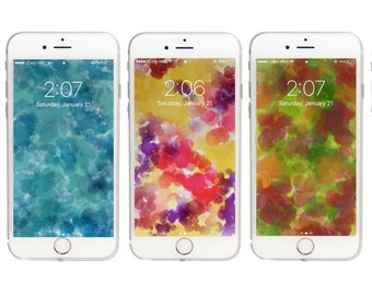 3 Watercolor Wallpapers for iPhone 5, 5s, 6, 6 plus, 6s, 6s plus