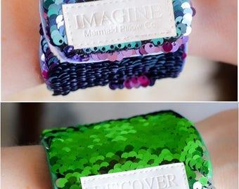 Magic Mermaid Bracelet w/ Reversible Sequins & Velvet Lining