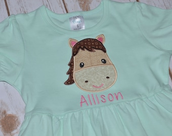 Horse Applique Dress- Portion of sales donated to Cure SMA
