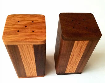 Handmade Wood Salt and Pepper Shakers
