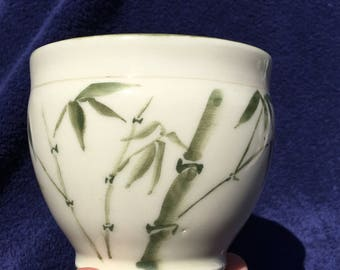 Porcelain  bamboo decorated large teacup