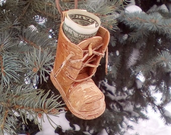 birch bark Cup for pens, birch bark smallboots