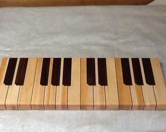 Piano Maple and Walnut Cutting Board