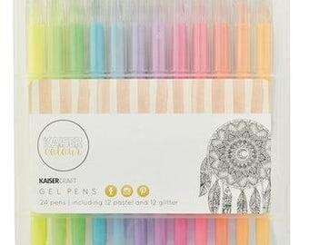 Kaisercraft Gell Pen Box 24 Colours