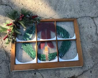 Holiday Wreath window painting