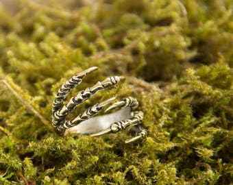 Dark souls ring, Ring - Dragon's Claw, Gothic Ring Dragon Ring Claw Ring Victorian Ring Fleur De Lis Ring Universal size