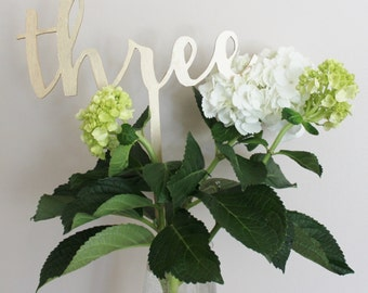Table numbers, Script table numbers, Wedding table numbers, Wedding table décor, Custom table numbers, Wedding table decoration.