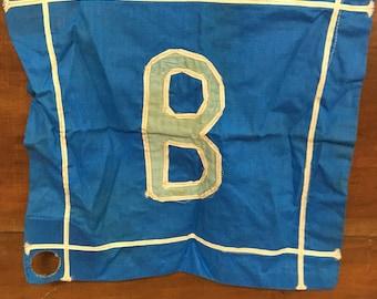 "1970's Handmade Maritime ""B"" Ship Flag"