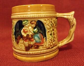 Vintage SANYO JAPAN Ceramic Mini German Beer Stein