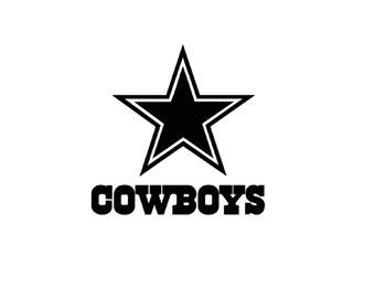 Dallas Cowboys Decal Etsy