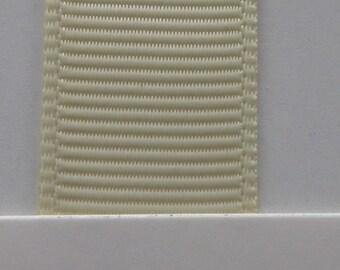 """1""""/ 26mm Grosgrain Ribbon in Ivory #810 x 2 meters"""