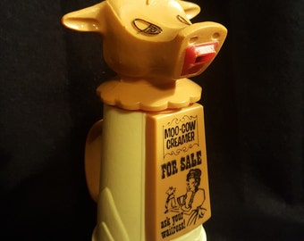 Cow Vintage Coffee Creamer, Farmhouse Decor, 60's
