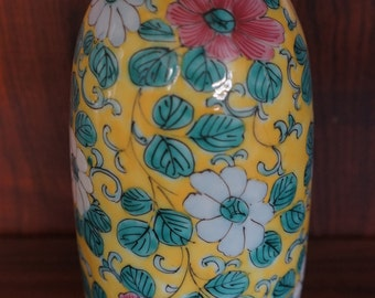 REDUCED!EXTREAMLY Rare Qin Ming Dynasty Imperial Yellow Bottle form vase 1700's antique porcelain