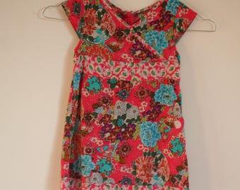 Flower girl dress child dress. Dress girl 3 years. Girl garment. Children's clothing.   French vintage.