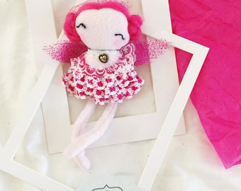 04R13 / Handmade doll / fabric doll / gift / angel / ornaments / decorative / tooth fairy / dandelions
