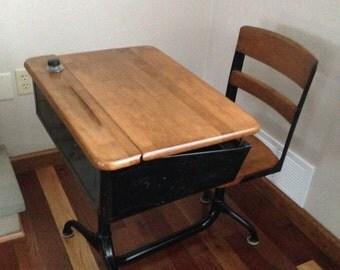 Vintage school desk   Etsy
