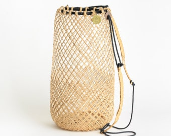 Anjat Rattan Bag Backpack Basket Oversized