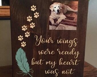 Dog memorial sign