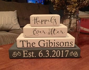 Wedding blocks set