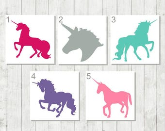 Unicorn Decal, Personalized Unicorn, Vinyl Decal