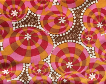 Quilting Cotton Anna Maria Horner Lou Lou Thi Buoyance in red.  One yd available.