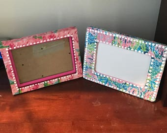 Lilly Pulitzer Frame, Lilly pulitzer picture frame, Lilly pulitzer pattern frame, dorm room decoration, Lilly picture frame