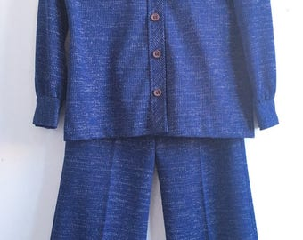 Vintage 70's Bell Bottom Suit