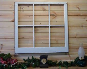 "Vintage window sash (1950's) Size 32x29"""
