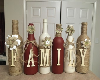 Wine bottled decor